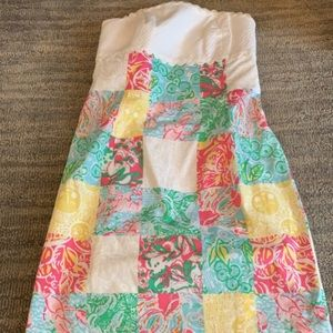 Strapless madras Lilly Pulitzer dress